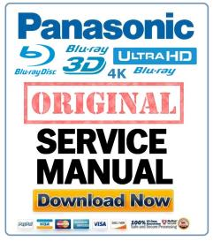 panasonic dmp-bd45 bd65 blu ray player original service manual