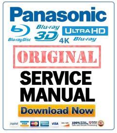 Panasonic DMP-BDT100 BDT100P BDT100PC BDT105 BDT105P Blu Ray player original Service Manual | eBooks | Technical