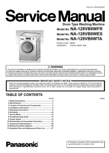 panasonic na 128vb6 128vb6wes 128vb6wfr 128vb6wta washing machine service manual