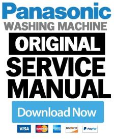 panasonic na 140vx3 148vx3 168vx3 washing machine service manual
