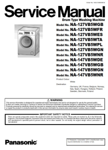 Panasonic NA 147VB5 147VB5WGN 147VB5WNR Washing Machine Service Manual | eBooks | Technical