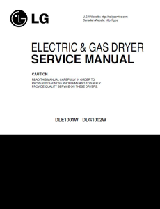 lg dle1001w dlg1002w service manual dryer service manual and repair guide