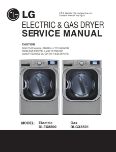 LG DLEX8500V DLGX8501V dryer service manual and repair guide | eBooks | Technical