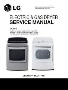 lg dley1701v dley1701w service manual steam dryer service manual + parts list catalog