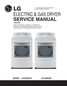 LG DLG4802W dryer service manual and repair guide | eBooks | Technical
