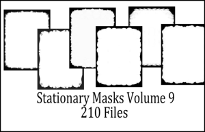Printable Stationery Designs Paint Shop Pro Masks Vol 9 | Other Files | Graphics