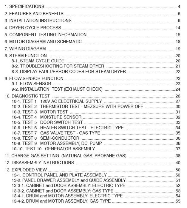 First Additional product image for - LG DLGX3571V DLGX3571W service manual dryer service manual and repair guide