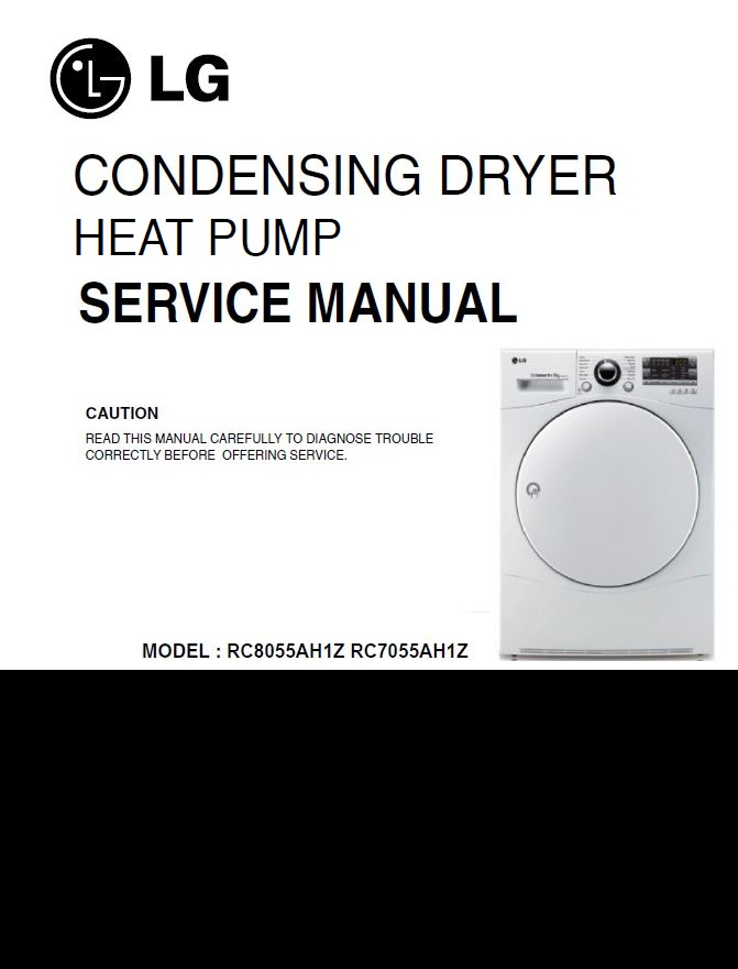 First Additional product image for - LG RC8055AH1Z + RC7055AH1Z dryer service manual service manual