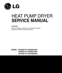 LG RC8055AP2Z dryer service manual and repair guide | eBooks | Technical