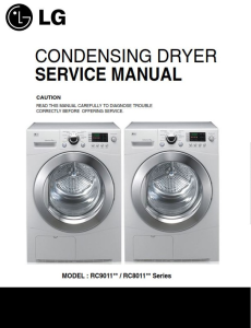 lg rc9011a dryer service manual and repair guide