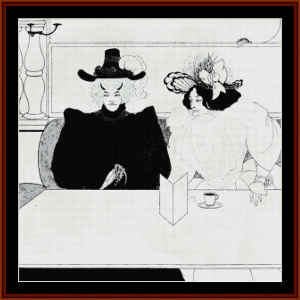 black coffe - beardsley cross stitch pattern by cross stitch collectibles