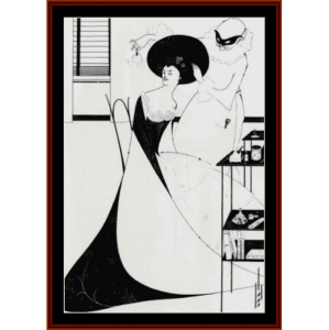toilette of salome - beardsley cross stitch pattern by cross stitch collectibles