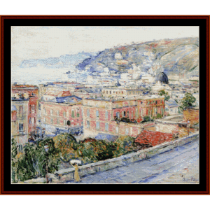 naples - childe-hassam cross stitch pattern by cross stitch collectibles