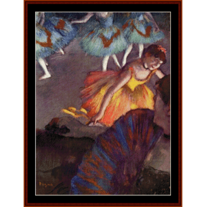 ballet, from the opera box, 1885 - degas cross stitch pattern by cross stitch collectibles