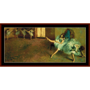 before the ballet, 1892 - degas cross stitch pattern by cross stitch collectibles
