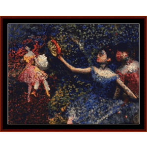 Dancer and Tambourine - Degas cross stitch pattern by Cross Stitch Collectibles | Crafting | Cross-Stitch | Wall Hangings