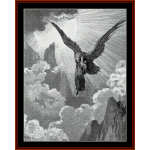 The Eagle - Gustave Dore cross stitch pattern by Cross Stitch Collectibles | Crafting | Cross-Stitch | Wall Hangings