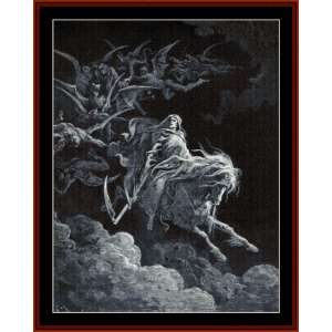 The Vision of Death - Gustave Dore cross stitch pattern by Cross Stitch Collectibles | Crafting | Cross-Stitch | Other
