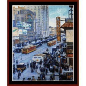 Times Square, NY 1923 - Halpert cross stitch pattern by Cross Stitch Collectibles | Crafting | Cross-Stitch | Other