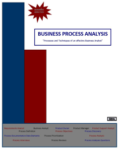 business process analysis - qrg