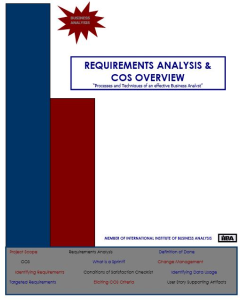 Requirements Analysis  & COS Overview - QRG | Software | Training