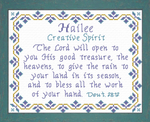 Name Blessings - Hailee | Crafting | Cross-Stitch | Religious