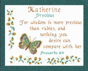 Name Blessings - Katherine 2 | Crafting | Cross-Stitch | Religious