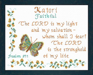 Name Blessings - Katori | Crafting | Cross-Stitch | Religious