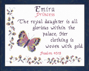 Name Blessings - Emira | Crafting | Cross-Stitch | Religious