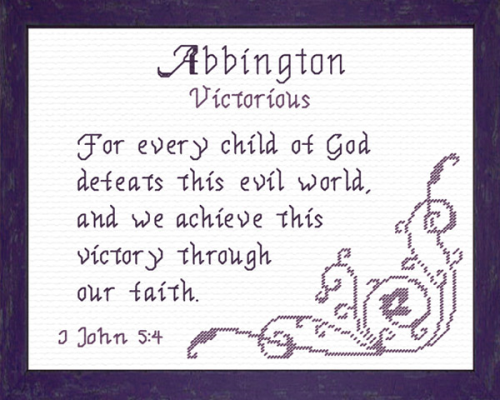 First Additional product image for - Name Blessings - Abbington