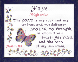 Name Blessings - Faye | Crafting | Cross-Stitch | Religious