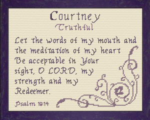 Name Blessings - Courtney 3 | Crafting | Cross-Stitch | Other