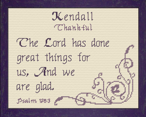 Name Blessings - Kendall | Crafting | Cross-Stitch | Religious