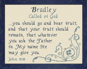 Name Blessings - Bradley 2 | Crafting | Cross-Stitch | Other