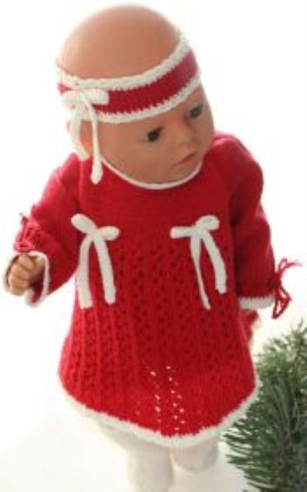 First Additional product image for - DollKnittingPatterns 0161D SOPHIA - Kjole, bukse, hårbånd og sokker-(Norsk)