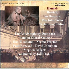handel: messiah, an oratorio - john tobin performing edition