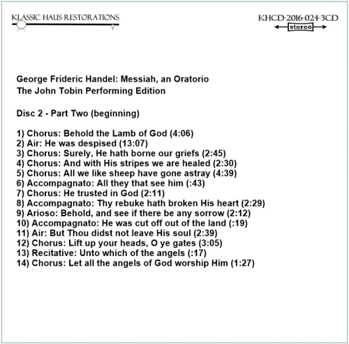 Second Additional product image for - Handel: Messiah, an Oratorio - John Tobin Performing Edition