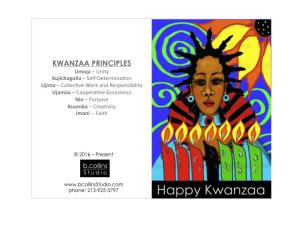 diy downloadable kwanzaa card 2016