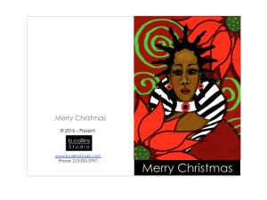 diy downloadable christmas card 2016
