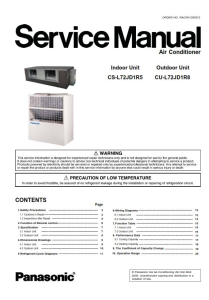 Panasonic CS-L72JD1R5 CU-L72JD1R8 AC System Service Manual | eBooks | Technical