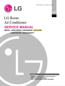 LG LW1812HR Air Conditioning System Service Manual | eBooks | Technical