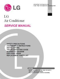 lg lw1013cr air conditioning system service manual