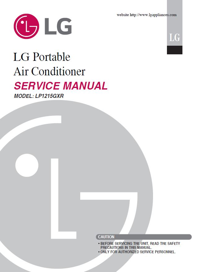 LG LP1215GXR Air Conditioning System Service Manual
