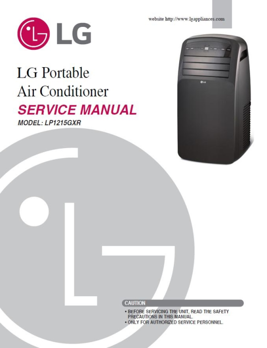 First Additional product image for - LG LP1215GXR Air Conditioning System Service Manual
