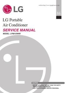 lg lp0815wnr air conditioning system service manual