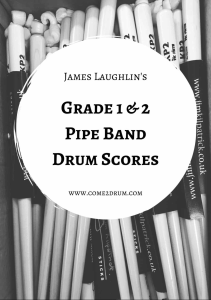 james laughlin's grade 1 & 2 drum score book
