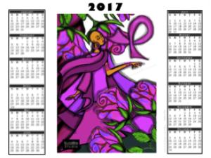 2017 calendar - - pretty in pink