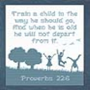 Train A Child 10 x 12 | Crafting | Cross-Stitch | Religious