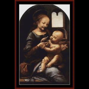 Madonna Bennois - DaVinci cross stitch pattern by Cross Stitch Collectibles | Crafting | Cross-Stitch | Wall Hangings