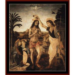 Baptism of Christ - DaVinci cross stitch pattern by Cross Stitch Collectibles | Crafting | Cross-Stitch | Wall Hangings